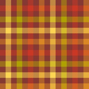 "autumn gingham - 1/4"" red maple"
