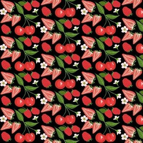 Cherry, Strawberry & Raspberry