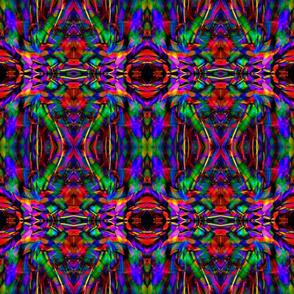 Abstract Rainbow Kaleidoscope Pattern