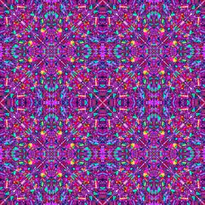 Purple Fractal Art Hippie Pattern