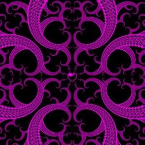 Purple and Black Fractal Pattern
