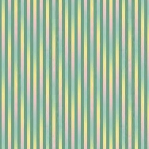 skinny green rainbow stripes