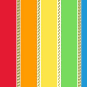 Grecian Rainbow (Dash) Large Vertical stripes