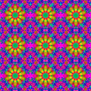 Funky Pink and Blue Retro Pattern
