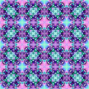 Retro Pattern Purple Pink Turquoise