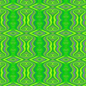 Lime Green Retro Fractal Pattern