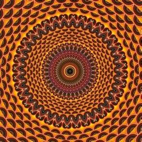 Golden Mandala Pattern