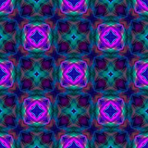 Purple and Green Retro Pattern