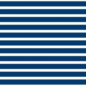 Sailor Stripes White on Navy