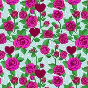 Pink Rose Polka dot
