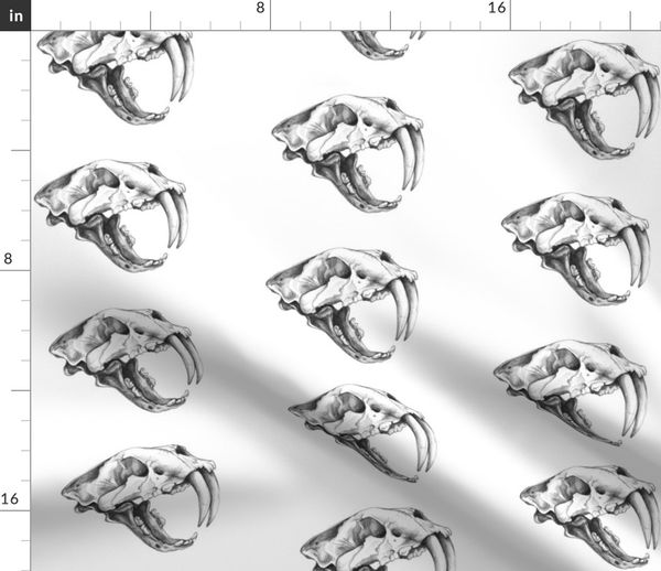 0335c429a Saber Tooth Tiger Skull - Spoonflower