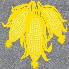 corn yellow on grey.