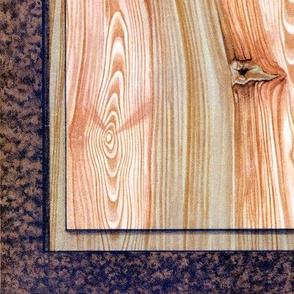 Fir Tree Wood Panel ~ Bright  ~ Trompe l'Oeil