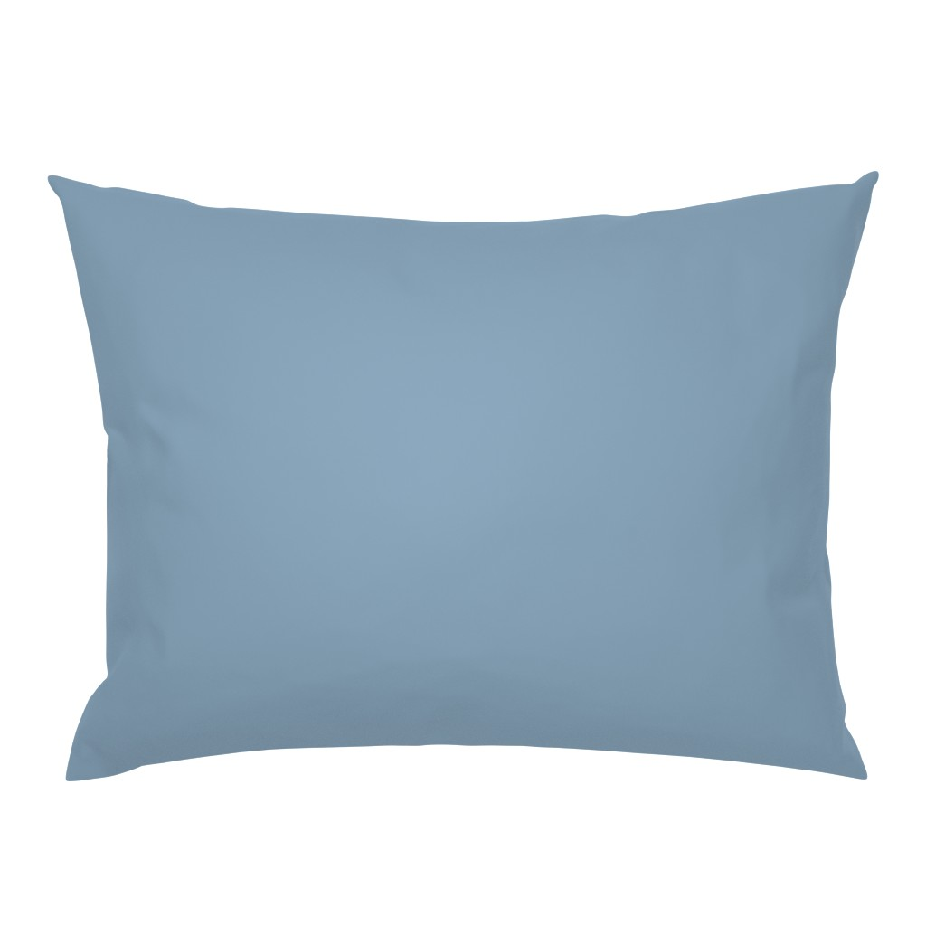 Campine Pillow Sham featuring Solid Dusty Blue by gingezel
