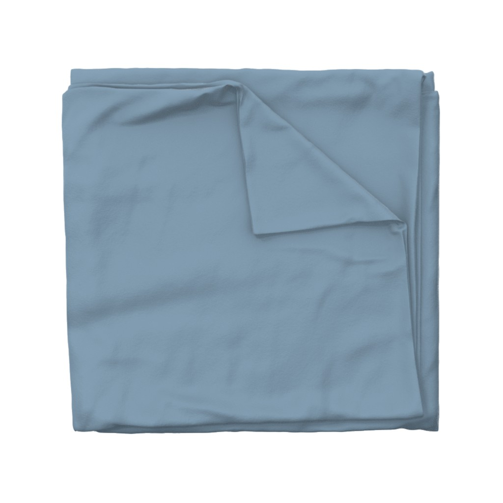 Wyandotte Duvet Cover featuring Solid Dusty Blue by gingezel