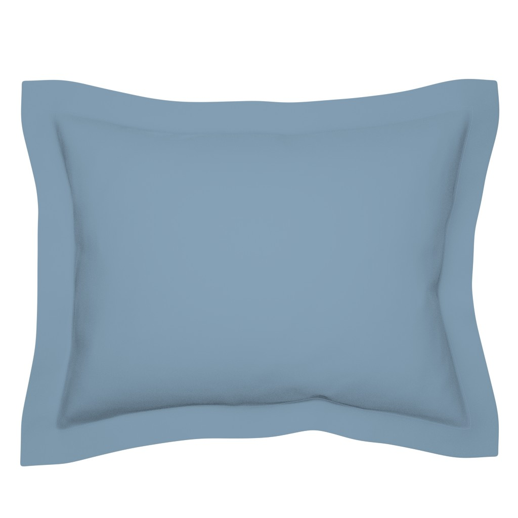 Sebright Pillow Sham featuring Solid Dusty Blue by gingezel