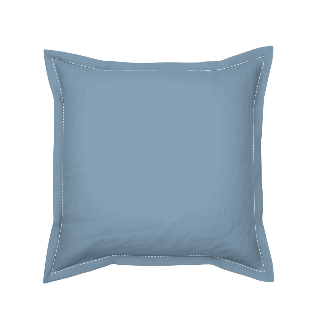 Serama Throw Pillow featuring Solid Dusty Blue by gingezel