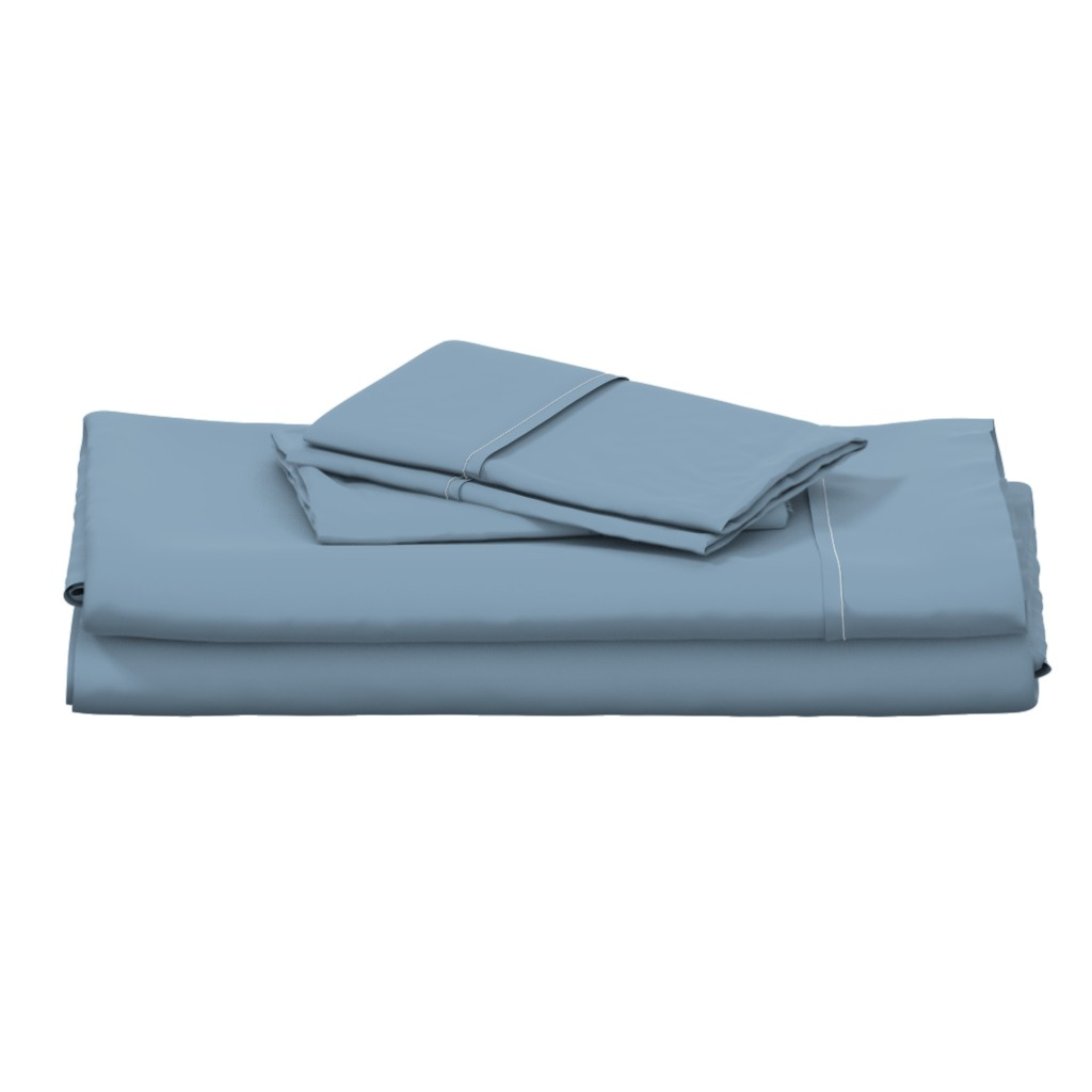 Langshan Full Bed Set featuring Solid Dusty Blue by gingezel
