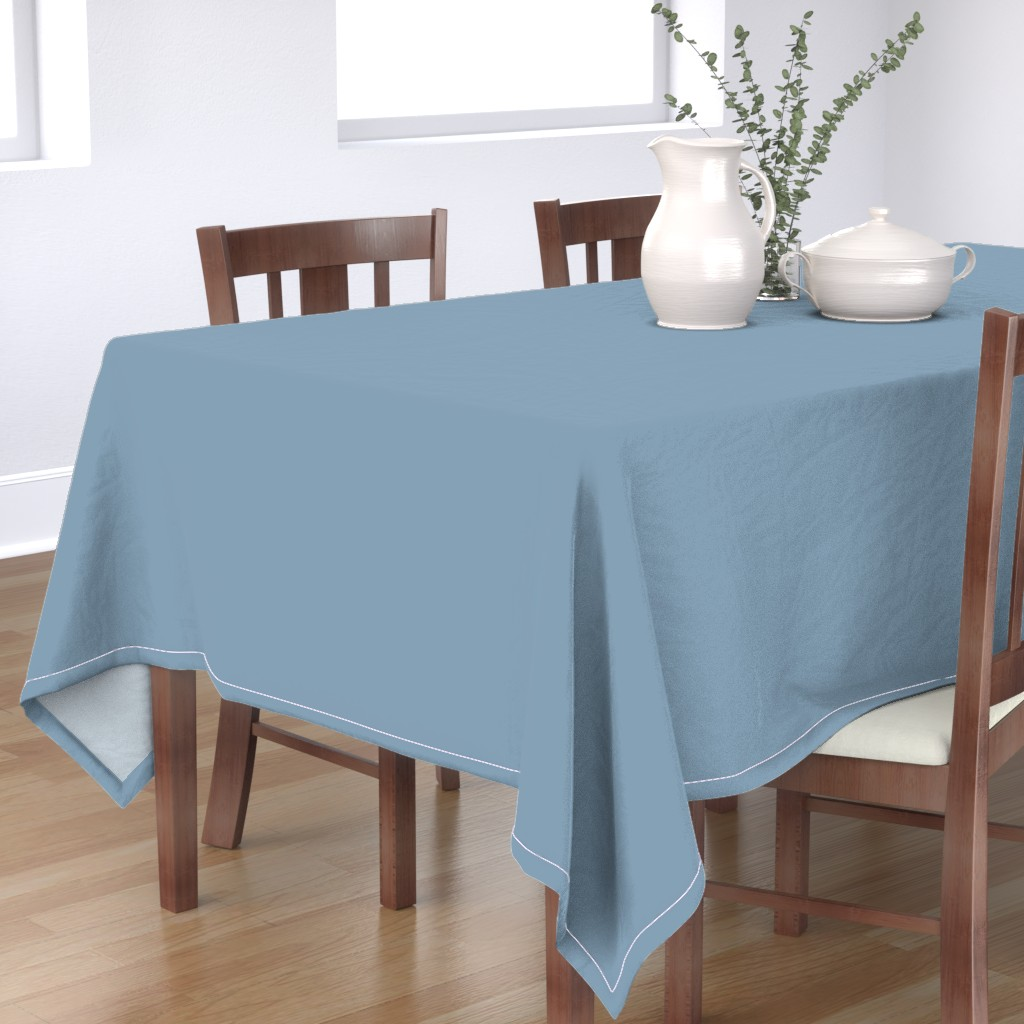 Bantam Rectangular Tablecloth featuring Solid Dusty Blue by gingezel