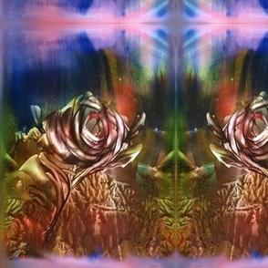 brown rose encaustic