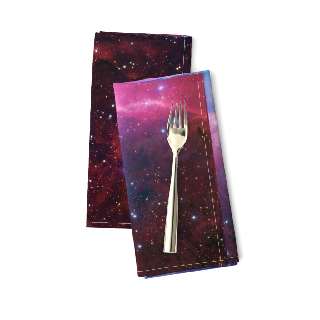 Amarela Dinner Napkins featuring Purple galaxy by aspie_giraffe