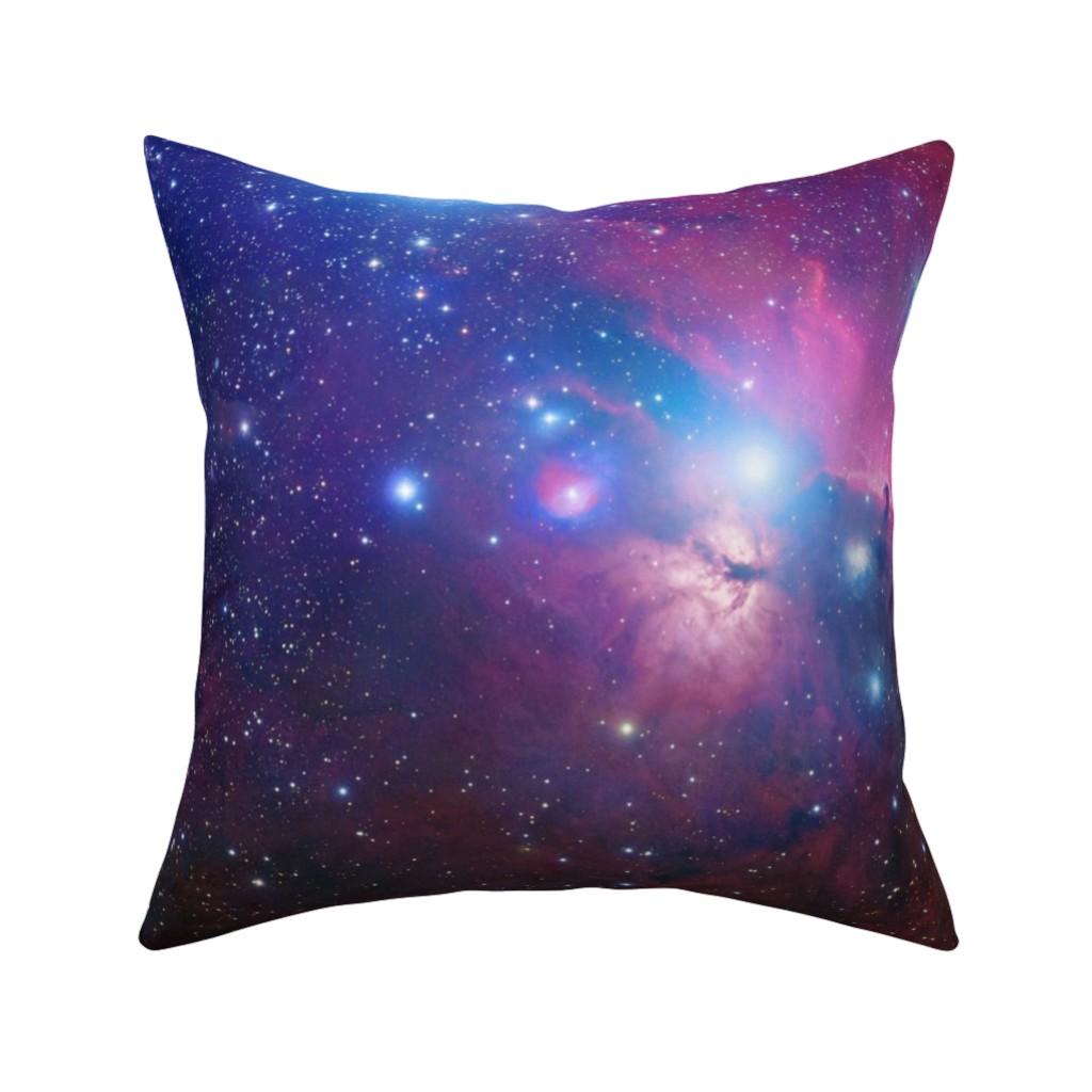 Catalan Throw Pillow featuring Purple galaxy by aspie_giraffe