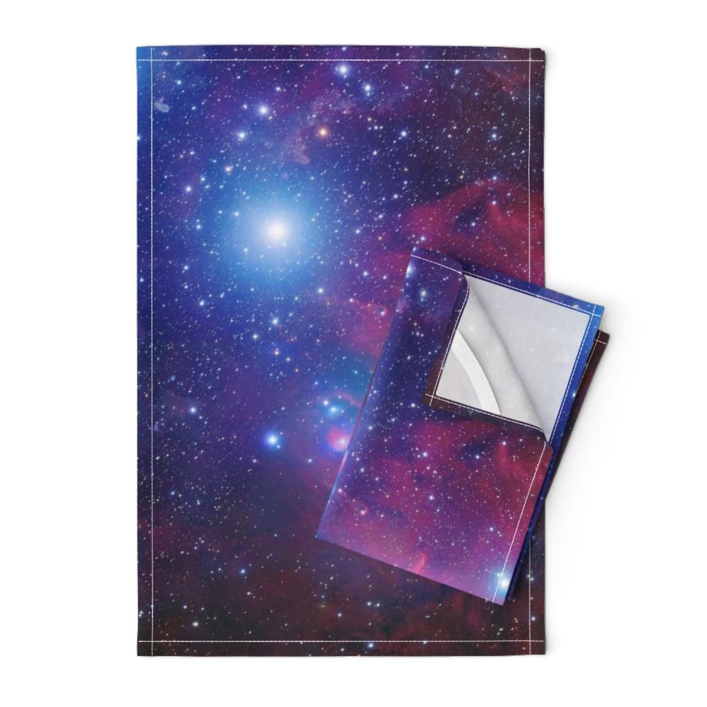 Orpington Tea Towels featuring Purple galaxy by aspie_giraffe