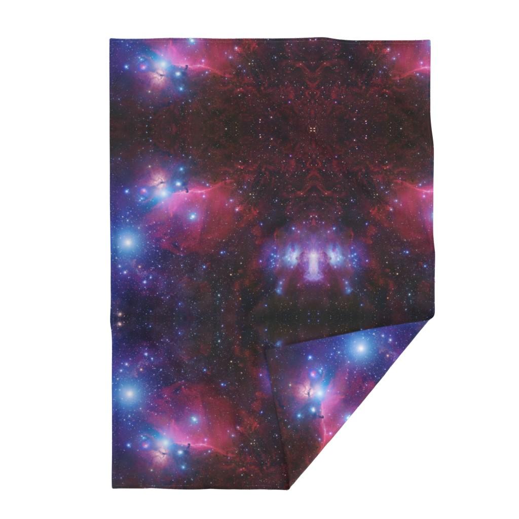 Lakenvelder Throw Blanket featuring Purple galaxy by aspie_giraffe