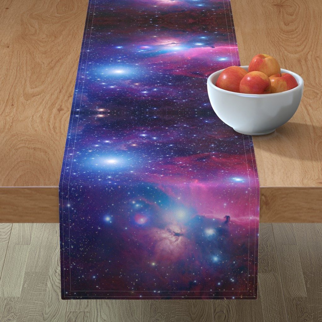 Minorca Table Runner featuring Purple galaxy by aspie_giraffe