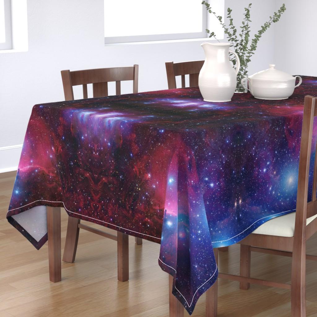 Bantam Rectangular Tablecloth featuring Purple galaxy by aspie_giraffe