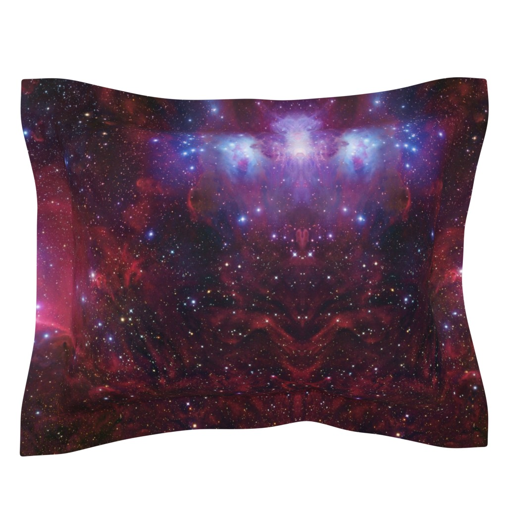 Sebright Pillow Sham featuring Purple galaxy by aspie_giraffe