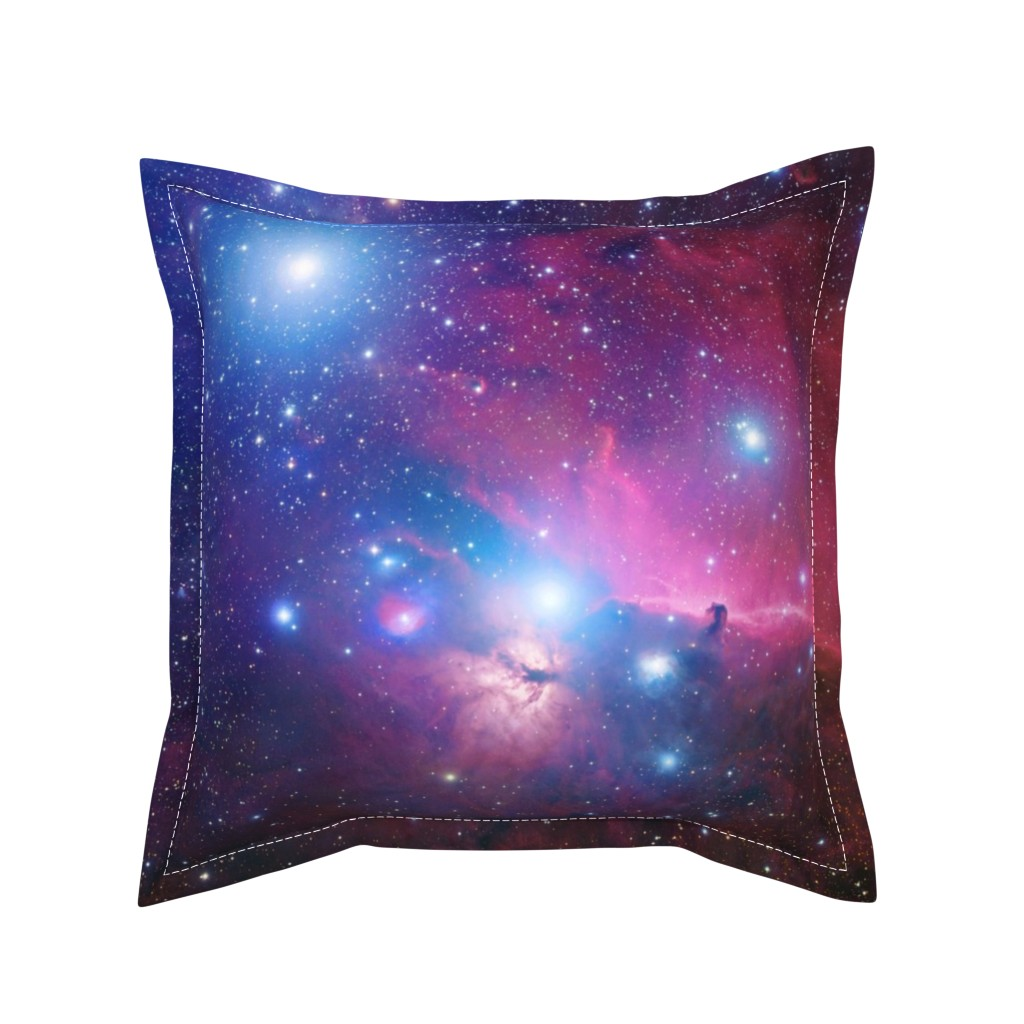 Serama Throw Pillow featuring Purple galaxy by aspie_giraffe
