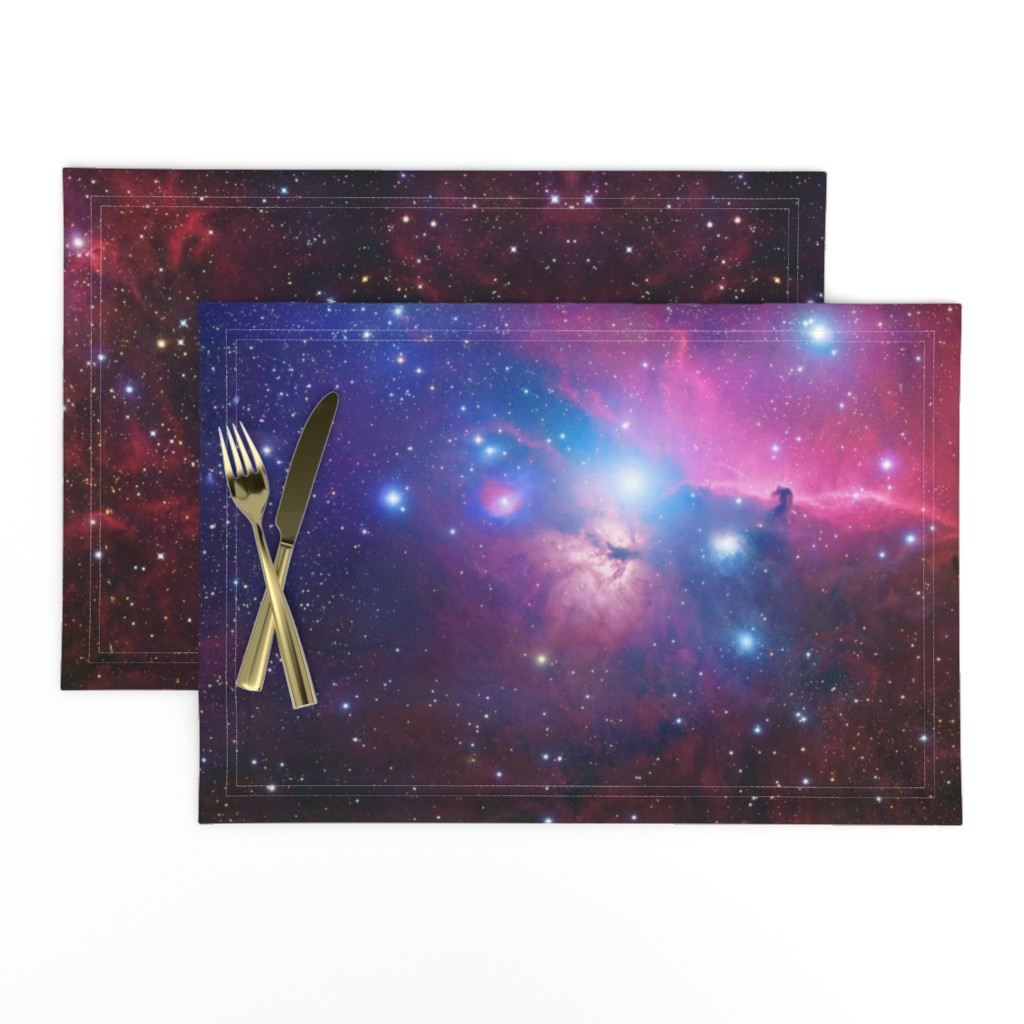 Lamona Cloth Placemats featuring Purple galaxy by aspie_giraffe