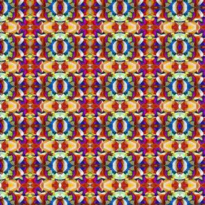 Retro Fractal Art Pattern