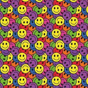 Smiley Rainbow Hippie Pattern