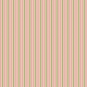 Faded Rose Small Pink Stripe