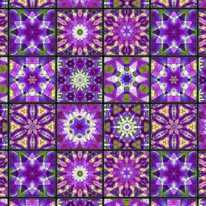 Purple and green Fractal Pattern
