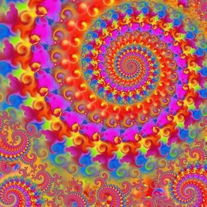 Crazy Pink Psychedelic Pattern