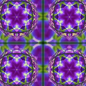 Purple Mandala Hippie Pattern