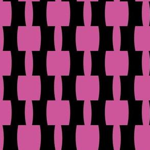 Bohemian Abstract |Mid-Century Retro Blocks | Black and Pink