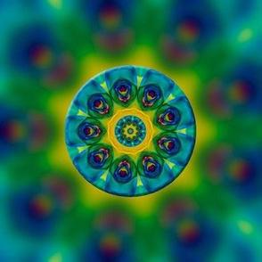 Rainbow Rose Kaleidoscope Fractal
