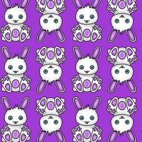 Kawaii Purple Bunny Pattern