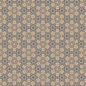 Taupe and Blue Digital Tapestry