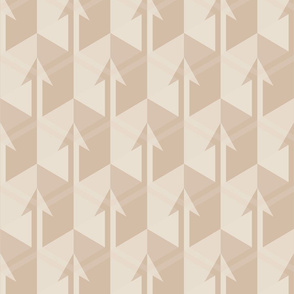 Beige Arrows Large