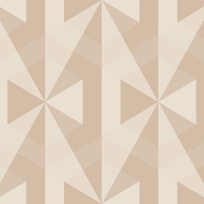 Beige Bows Op Art Large