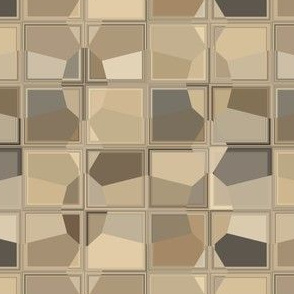 Taupe and Brown Fractured Mosaic