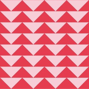 Pink and Red Geometric Triangle