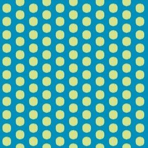 Ikat Spot Blue and Yellow