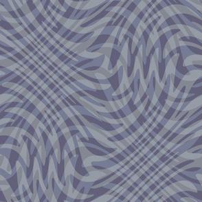swirling plaid in blue-grey