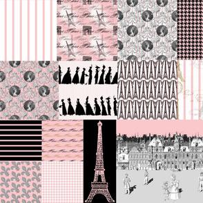 Promenade in Paris ~ Cheater Quilt
